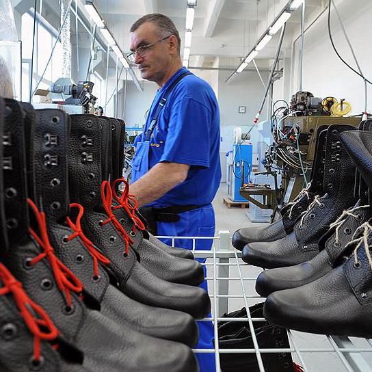 Производство обуви для военных и других силовых структур